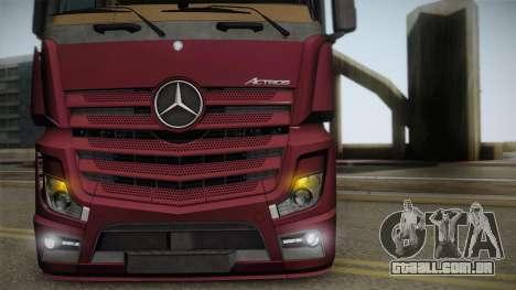 Mercedes-Benz Actros Mp4 4x2 v2.0 Bigspace v2 para GTA San Andreas vista direita