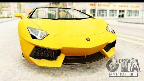 Lamborghini Aventador LP700-4 Roadster v2 para GTA San Andreas vista superior