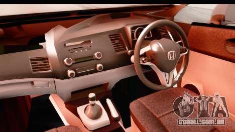 Honda Brio para GTA San Andreas vista interior