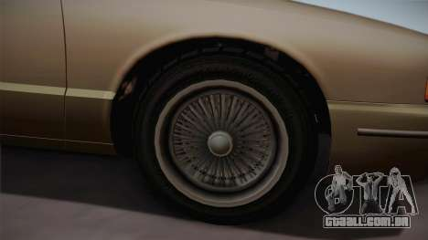 Declasse Premier 1992 SA Style para GTA San Andreas vista traseira