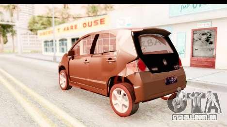 Honda Brio para GTA San Andreas esquerda vista