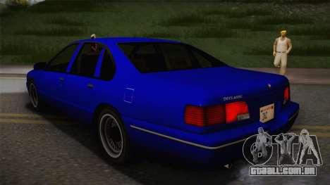 Declasse Premier 1992 IVF para GTA San Andreas esquerda vista