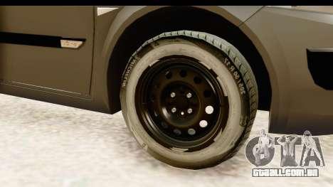 Renault Megane 2 Sedan Unmarked Police Car para GTA San Andreas vista traseira