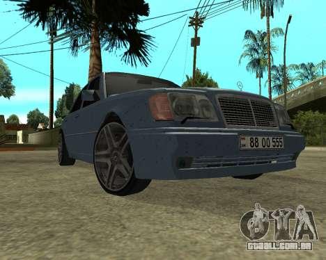 Mersedes-Benz E-500 Armenian para GTA San Andreas esquerda vista