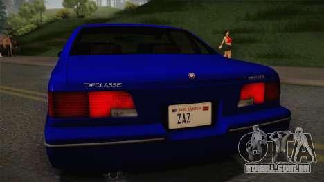Declasse Premier 1992 IVF para GTA San Andreas vista direita