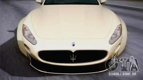 Maserati Gran Turismo Rocket Bunny para GTA San Andreas traseira esquerda vista