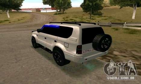 Toyota Land Cruiser 95 para GTA San Andreas esquerda vista