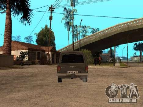 GÁS 31022 para GTA San Andreas vista traseira