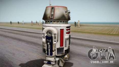 R5-D4 Droid from Battlefront para GTA San Andreas traseira esquerda vista