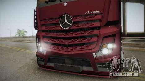 Mercedes-Benz Actros Mp4 4x2 v2.0 Bigspace v2 para GTA San Andreas traseira esquerda vista