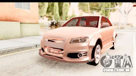 Audi S3 Slaam para GTA San Andreas vista direita