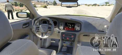 GTA 5 Dodge Charger LD 2015 traseira vista lateral esquerda