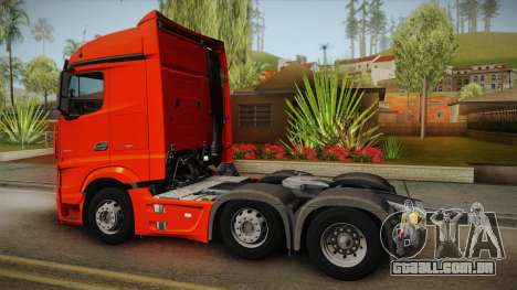 Mercedes-Benz Actros Mp4 6x2 v2.0 Steamspace v2 para GTA San Andreas esquerda vista