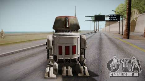 R5-D4 Droid from Battlefront para GTA San Andreas esquerda vista