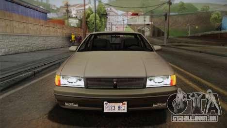 Declasse Premier 1992 SA Style para GTA San Andreas vista interior