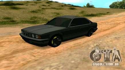 BMW 535i E34 cinza para GTA San Andreas