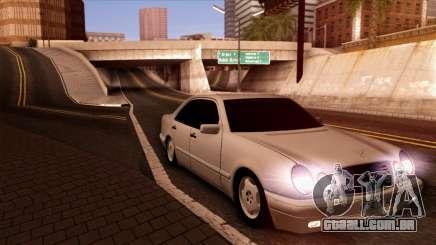 A Mercedes-Benz E420 preto para GTA San Andreas