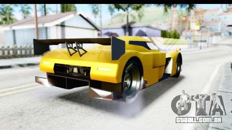 GTA 5 Annis RE-7B para GTA San Andreas esquerda vista
