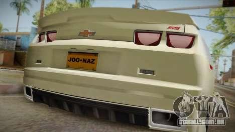 Chevrolet Camaro Synergy para GTA San Andreas vista traseira