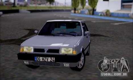 Tofas Dogan SLX 1.6 i.e para GTA San Andreas traseira esquerda vista