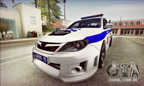 Subaru Impreza WRX STI Police para GTA San Andreas esquerda vista