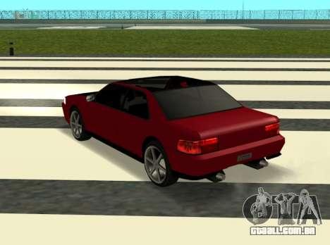 Sultan Kaefoon para GTA San Andreas traseira esquerda vista