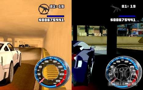 Velocímetro GTA SA Estilo V16x9 (widescreen) para GTA San Andreas terceira tela