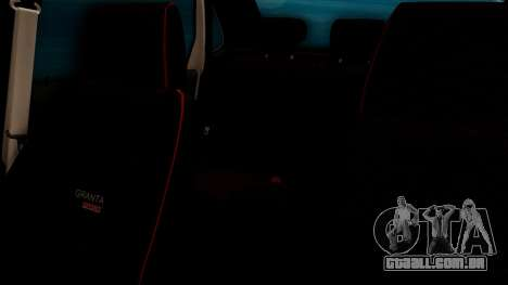 Lada Granta para GTA San Andreas interior