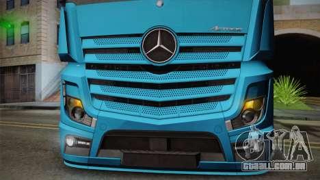 Mercedes-Benz Actros Mp4 6x2 v2.0 Gigaspace para GTA San Andreas vista traseira