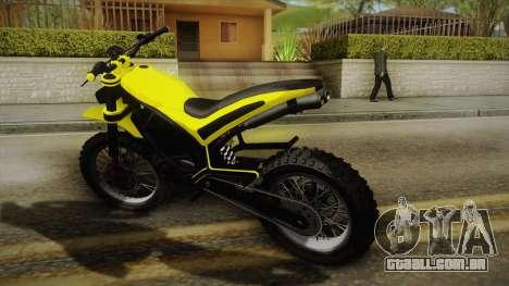 GTA 5 Epic Maibatsu Manchez para GTA San Andreas esquerda vista