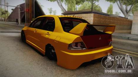 Mitsubishi Lancer Evolution IX Tuned para GTA San Andreas esquerda vista