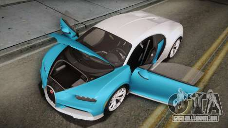 Bugatti Chiron 2017 para o motor de GTA San Andreas