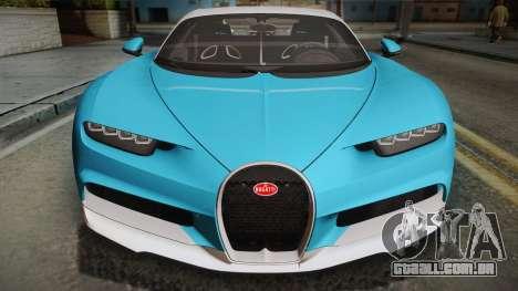 Bugatti Chiron 2017 para GTA San Andreas vista direita