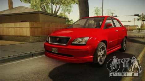 GTA 5 Emperor Habanero para GTA San Andreas traseira esquerda vista