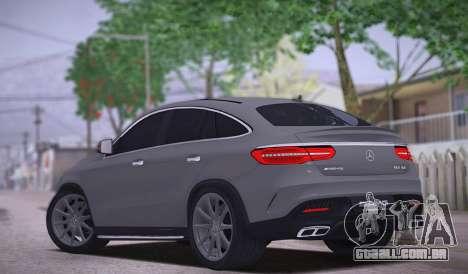 Mercedes-Benz GLE AMG para GTA San Andreas traseira esquerda vista