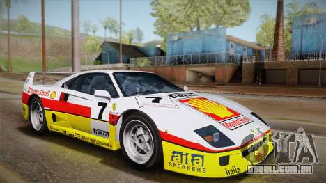 Ferrari F40 (US-Spec) 1989 IVF para GTA San Andreas vista inferior