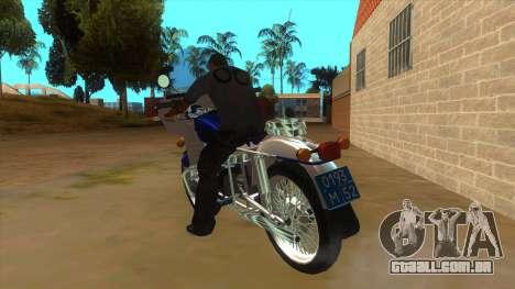 Ural De Polícia para GTA San Andreas traseira esquerda vista
