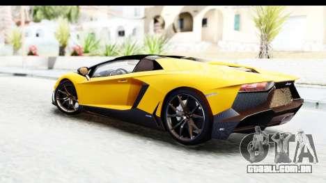 Lamborghini Aventador LP720-4 Roadster 2013 para GTA San Andreas esquerda vista