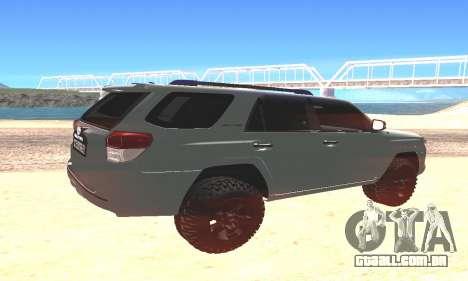 Toyota 4Runner para GTA San Andreas esquerda vista
