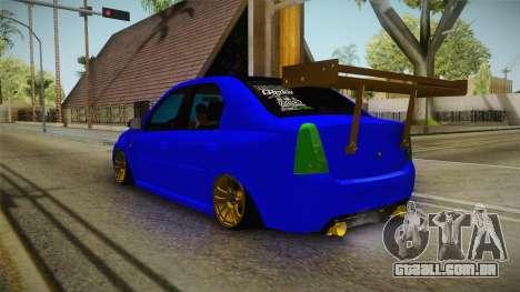 Dacia Logan Stance Haur Edition para GTA San Andreas esquerda vista