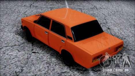 VAZ 2105 Pigler para GTA San Andreas traseira esquerda vista