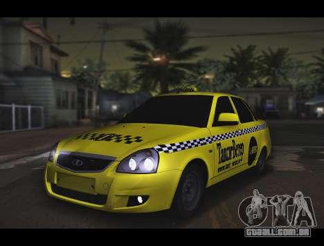 Lada Priora Táxi-O Vento para GTA San Andreas