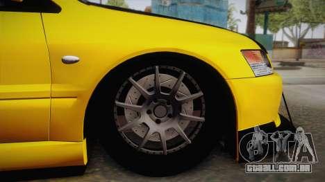 Mitsubishi Lancer Evolution IX Tuned para GTA San Andreas vista direita