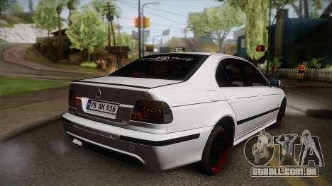 BMW M5 E39 Turbo King para GTA San Andreas esquerda vista