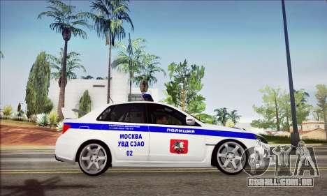 Subaru Impreza WRX STI Police para GTA San Andreas vista direita