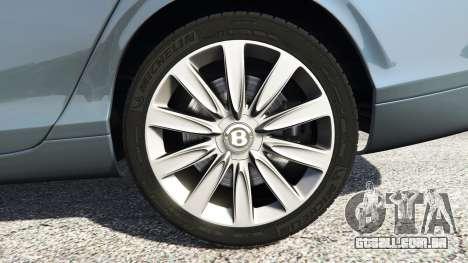 GTA 5 Bentley Flying Spur [add-on] traseira direita vista lateral