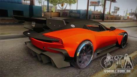 Aston Martin Vulcan para GTA San Andreas esquerda vista