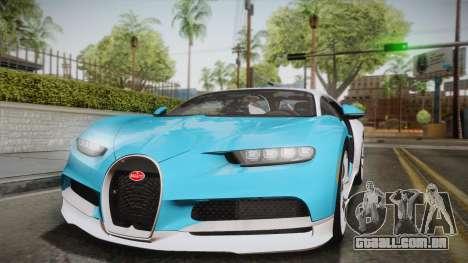Bugatti Chiron 2017 para vista lateral GTA San Andreas
