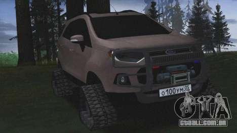 Ford Ecosport Off-Road para GTA San Andreas traseira esquerda vista