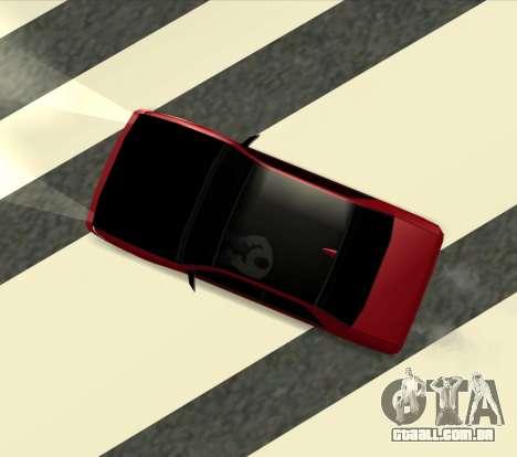 Sultan Kaefoon para GTA San Andreas esquerda vista
